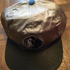 Other - Dallas Mavs gray Mitchell and Ness hat